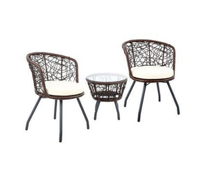 Outdoor Patio Chair and Table with Glass Top