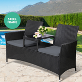 💎 Outdoor 2 Seat Wicker Table With Cushions