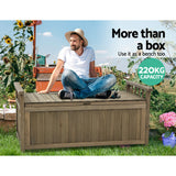 Outdoor Storage Box Wooden 160L