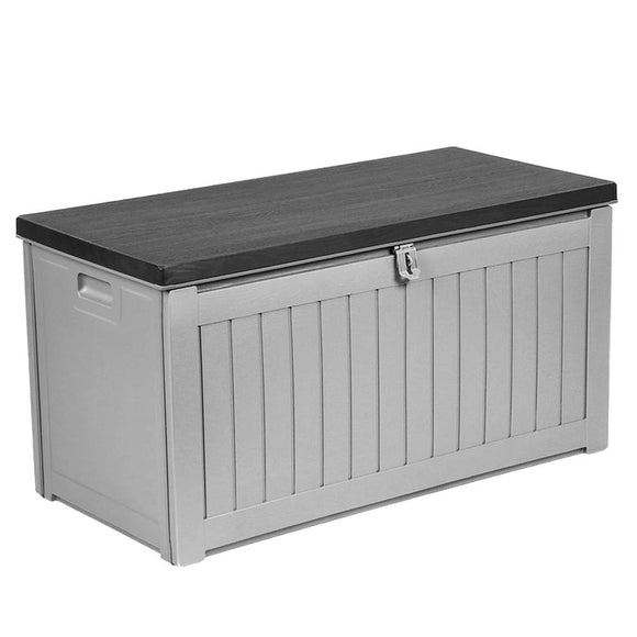 Lockable Outdoor Storage Box Grey 190L