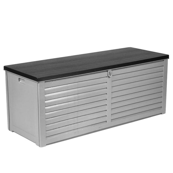 Lockable Outdoor Storage Box Grey 390L