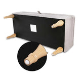 💎 Fabric Storage Ottoman with Wooden Legs Beige