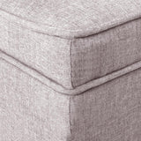💎 Fabric Storage Ottoman with Wooden Legs