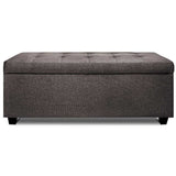 Fabric Multi Function Storage Ottoman Brown