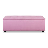 Multi-functional Faux Storage Ottoman Pink