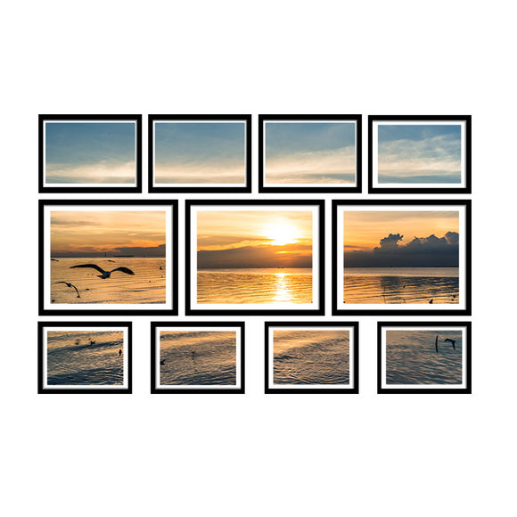 11 Piece Photo Frame Set Black