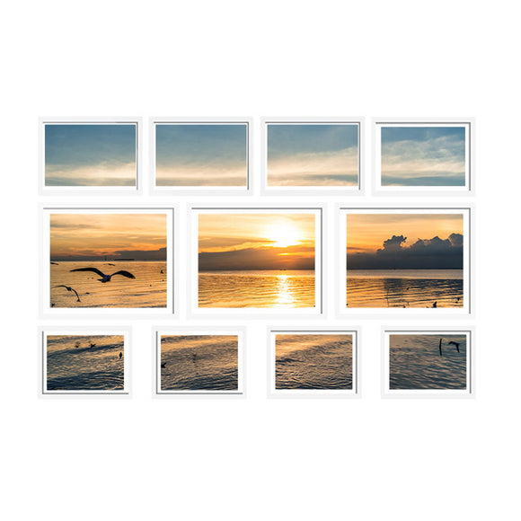 11 Piece Photo Frame Set White
