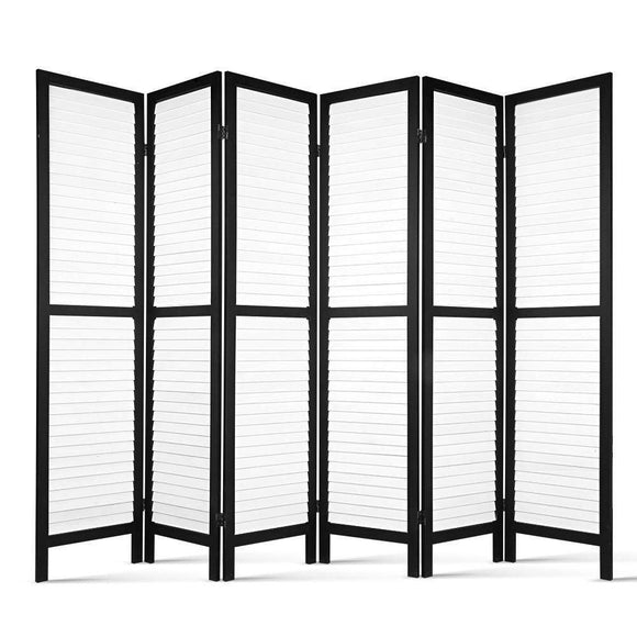 Painted Paulownia Wood Privacy Screen 6 Panel
