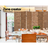 Water Hyacinth Partition Metal Stand Room Divider Privacy Screen (4 & 6P)