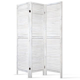 Rustic Room Divider Privacy Screen White (3, 4, 6 or 8 Panel)