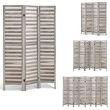 Rustic Wooden Room Divider Privacy Screen Light Grey (3, 4, 6 or 8 Panel)