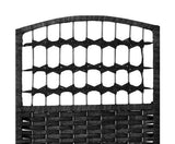 Classic Room Divider Privacy Screen Partition 6 Panel Black 240cm