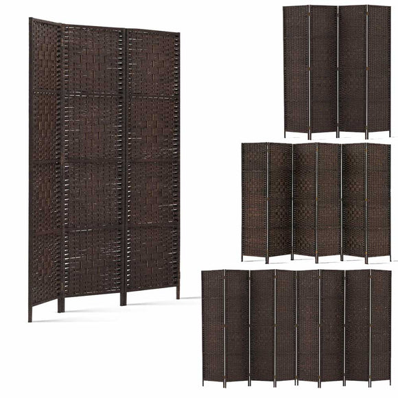 💎 Woven Rattan Privacy Screen Brown (3, 4, 6 or 8 Panel)