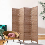 Woven Rattan Room Divider Privacy Screen Natural (3, 4, 6 or 8 Panel)