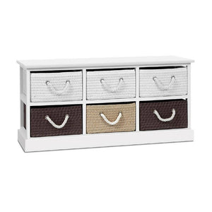Classic Storage Bench Shoe Shelf With 6 Drawers