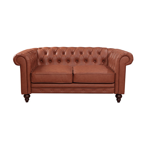 Madeline 2 Seater Loveseat Faux Leather