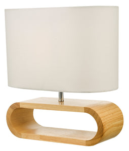 Stylish Timber Bedside Table Lamp