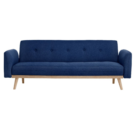 Sofa Bed 3 Seater Blue