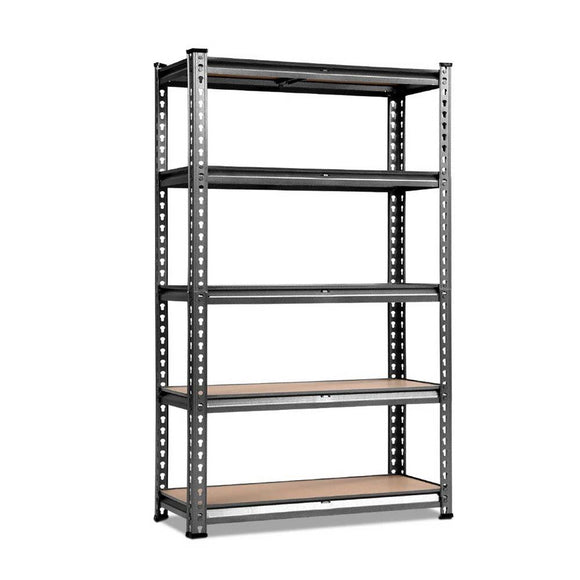 5 Tier Garage Shelving Unit Black or Grey 70 x 30 x 150