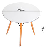 Scandinavian Round Dining Table Small
