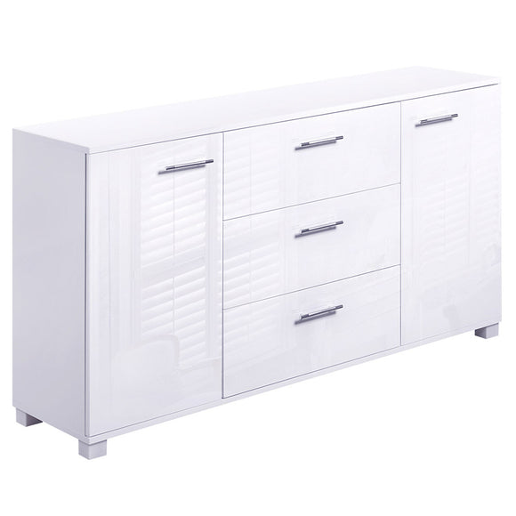 Modern Buffet Storage Cabinet High Gloss White