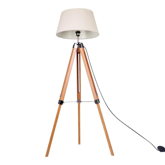 Modern Bamboo Wooden Floor Lamp