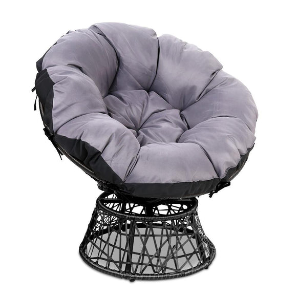 'Papasan' Modern Wicker Outdoor Chair