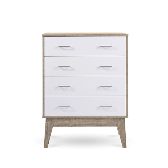 Scandinavian Tallboy Chest of 4 Drawers