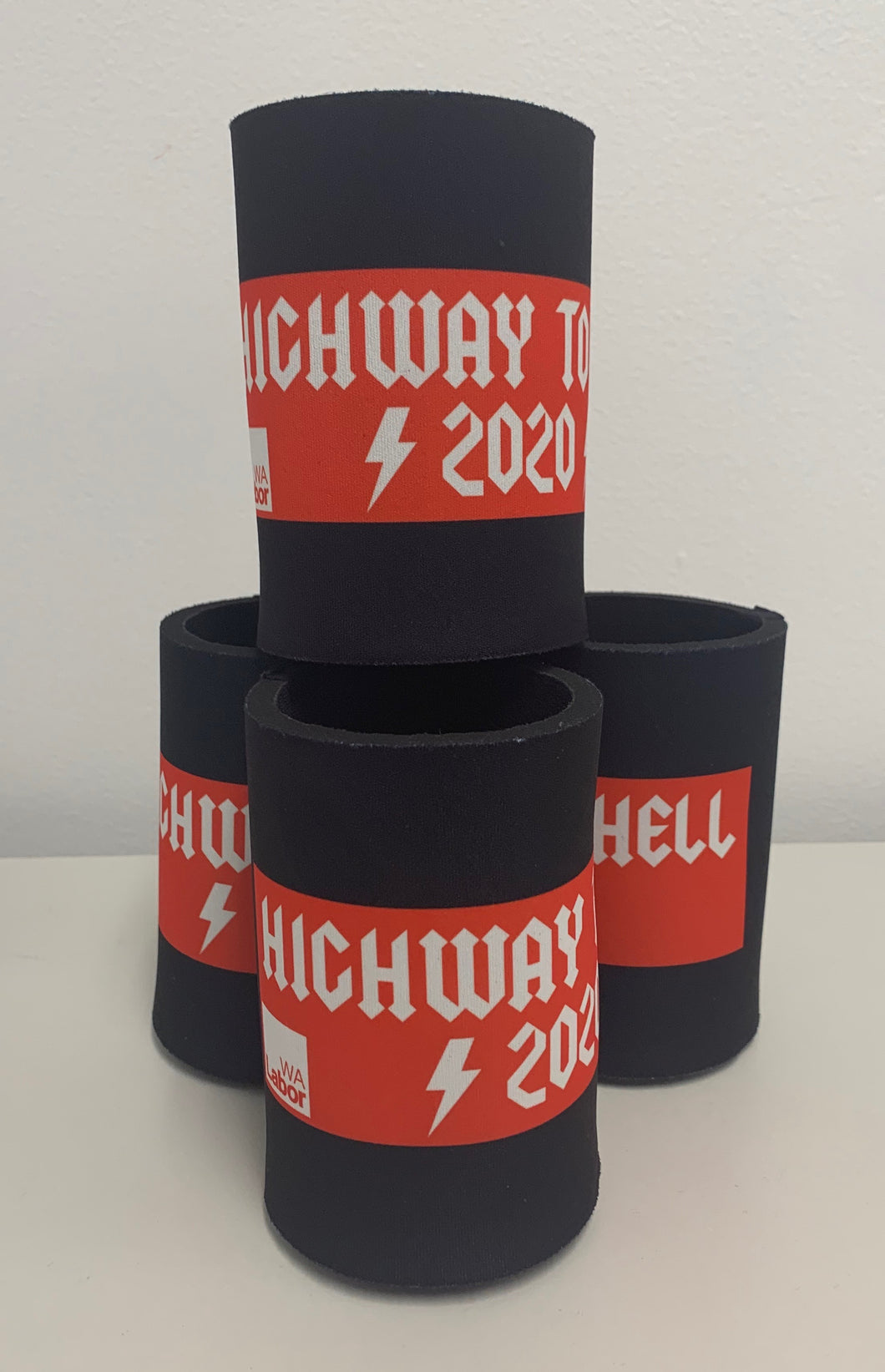 Highway To Hell WA Labor Stubby Holder