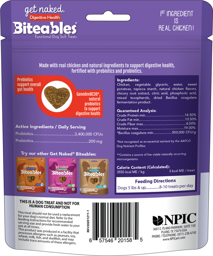 Biteables Digestive Health Functional Soft Treats