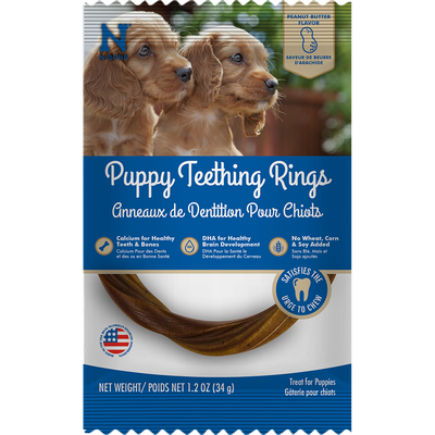N-Bone® Puppy Teething Rings Peanut Butter