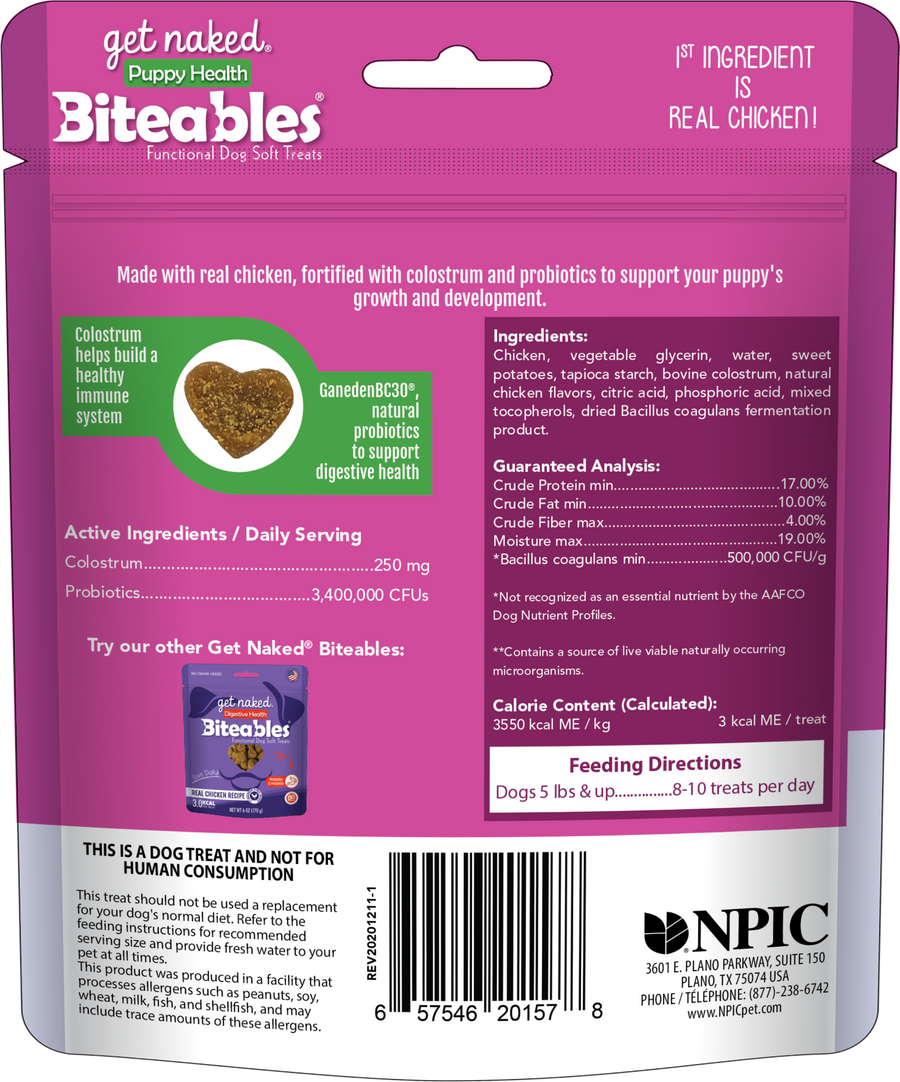 Biteables Puppy Health Functional Soft Treats