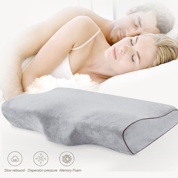 Memory Foam Bedding Pillow Butterfly Shaped Relax Neck Protection Orthopedic Slow Rebound Cervical For Health Care 50x30cm - [Free Shipping]