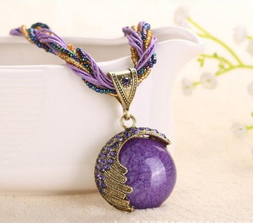 Collier energie violet