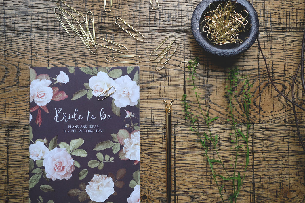 Bride English Garden Print Notebook