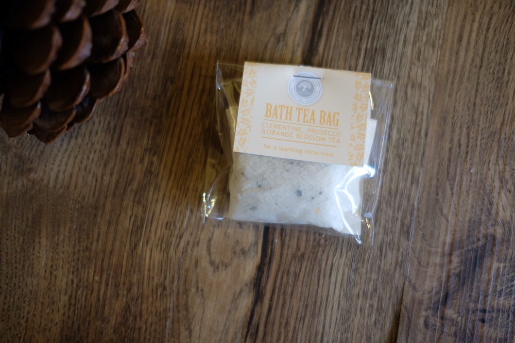 Clementine, Prosecco & Orange Blossom Bath Tea Bag