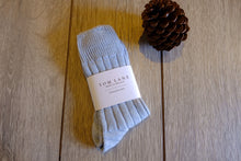 Ice Blue Alpaca Bed Socks