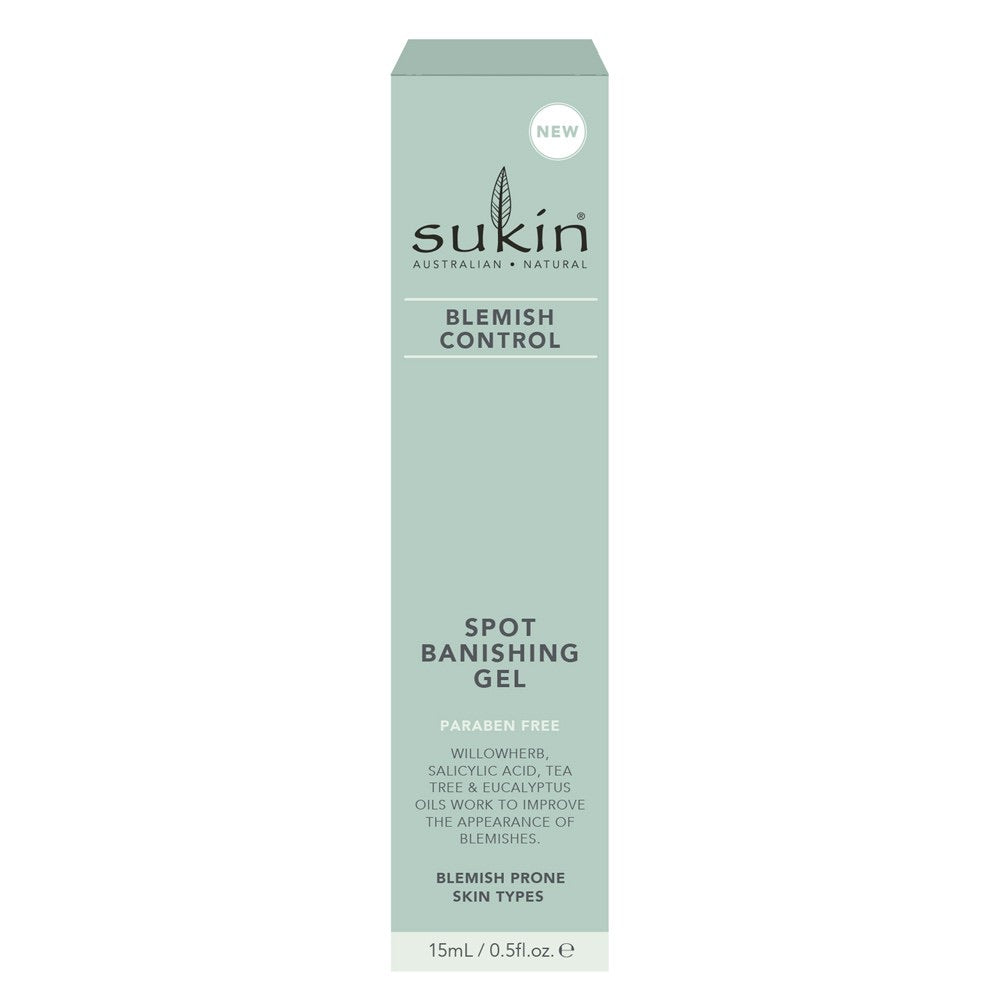 Sukin Blemish Control Spot Banishing Gel 15ml