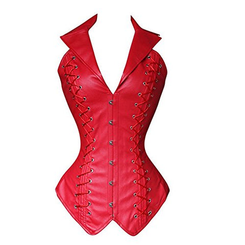Faux Leather Steel Bone Corset