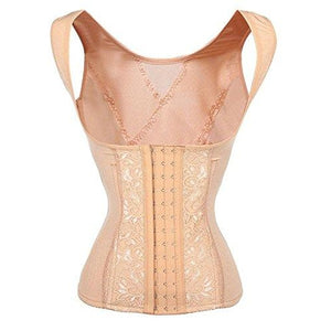 Steel Boned Waist Trainer Corset Cincher Vest Body Shaper