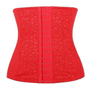 Lace Trimed Mesh Waist Training Corset Underbust Cincher