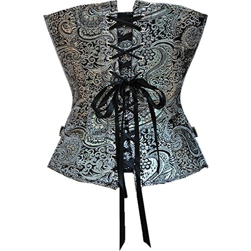 Steampunk Corset Gothic Jacquard Bustiers 636