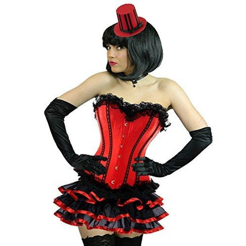 Burlesque Corset Frilly Tutu Skirt Costume