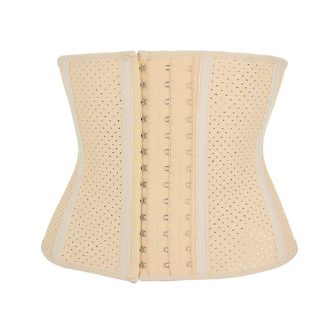nude latex waist trainer