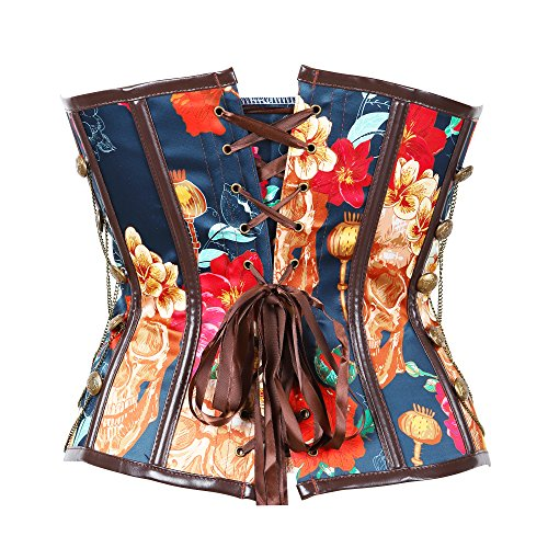 Steel Boned Retro Jacquard Steampunk Corset