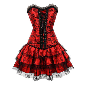 gothic lace steampunk halloween corset