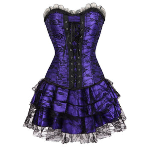 halloween steampunk corset dress