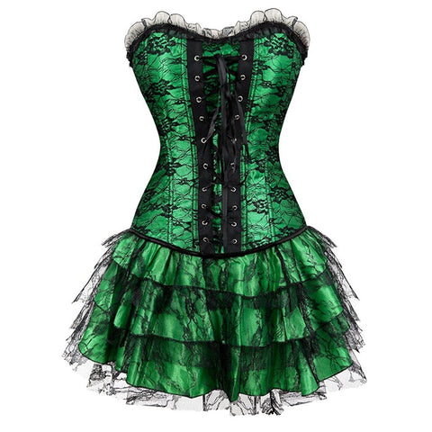 steampunk corset with tutu skirt
