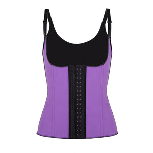 Latex Strap Workout Waist Cincher Corset L7587-5