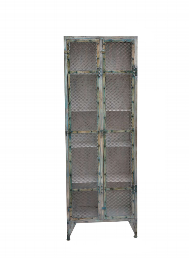 Cabinet with Metal Net Door